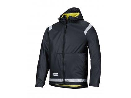 Bunda do deště PU černá vel. XS Snickers Workwear