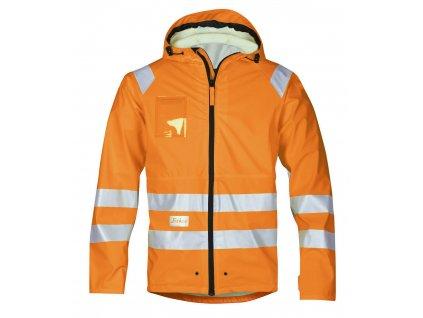 Bunda reflexní PU do deště, třída 3 oranžová vel. S Snickers Workwear