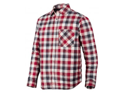 Košile zateplená RuffWork červená vel. XXL Snickers Workwear