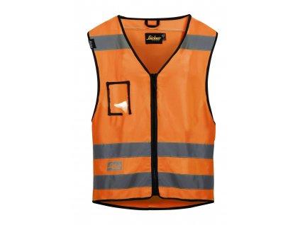Vesta reflexní, třída 2 oranžová vel. S/M Snickers Workwear