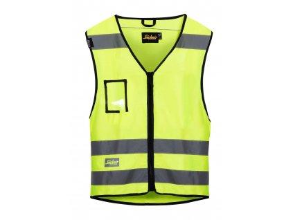 Vesta reflexní, třída 2 žlutá vel. S/M Snickers Workwear