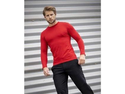 Tričko ARDON®CUBA s dlouhým rukávem červené