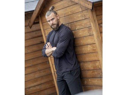 Tričko ARDON®CUBA s dlouhým rukávem černé