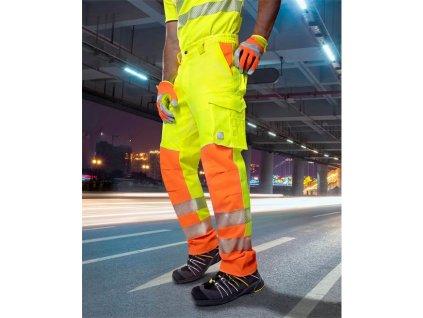 Kalhoty pas SIGNAL prodloužené žluto-oranžová (46)