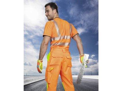 Kalhoty pas SIGNAL zkrácené oranžovo-žlutá (46)