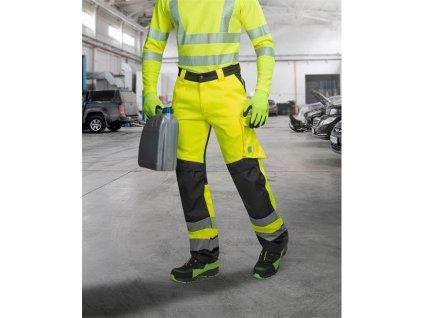 Kalhoty pas SIGNAL žluto-černé zkrácené (46)