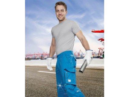 Kalhoty pas SUMMER zkrácené modrá (46)
