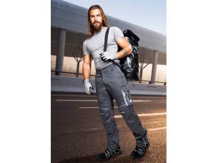 Kalhoty pas SUMMER zkrácené tmavě šedá