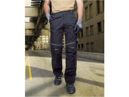 Kalhoty do pasu URBAN černo-šedé prodloužené (44-46)