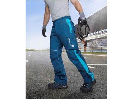 Kalhoty do pasu URBAN modré - prodloužené (46)