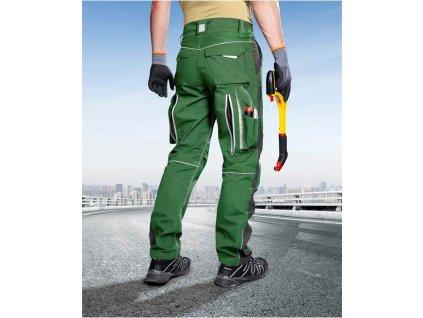 Kalhoty do pasu URBAN+ zelené zkrácené (46)