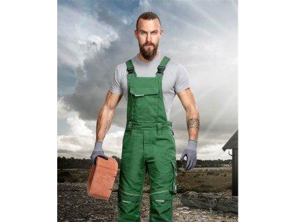 Kalhoty s laclem URBAN+ zelené prodloužené (48-50)