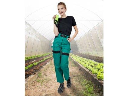 Kalhoty pas COOL TREND dámské zeleno-černé