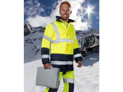 Reflexní zimní bunda ARDON®REF601 žluto-modrá