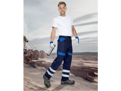 Kalhoty ARDON®COOL TREND s reflex. pruhy modro-modré