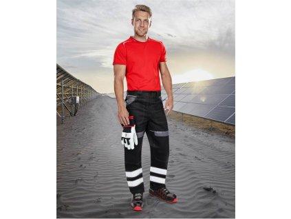 Reflexní kalhoty pas COOL TREND černo-šedé