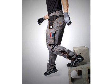 Kalhoty pas VISION 02 šedo-oranžové, 170 cm (46)