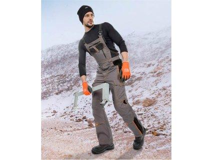 Zimní kalhoty s laclem ARDON®VISION šedé