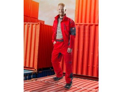 Blůza VISION 01 červeno-šedá, 194 cm - DOPRODEJ