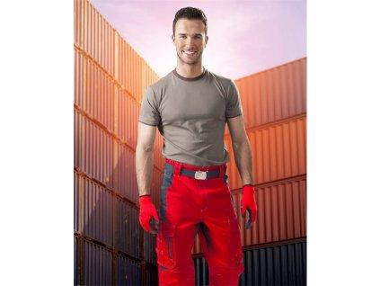 Kalhoty pas VISION 02 červeno-šedé, 170 cm (46)