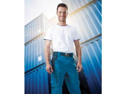 Kalhoty pas VISION 02 modré, zkrácené (46)