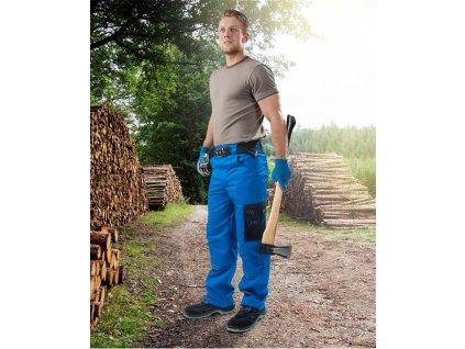 Kalhoty pas 4TECH 02 modré, prodloužené (46)