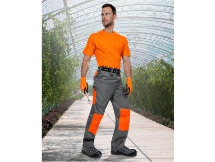 Kalhoty ARDON®2STRONG šedo-oranžové