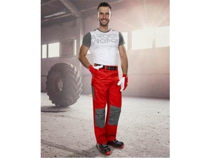 Kalhoty pas 2strong 02 červeno-šedé