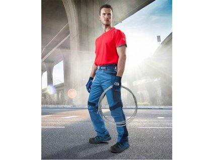 Kalhoty pas R8ED+ modré, zkrácené