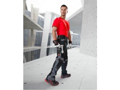 Kalhoty pas R8ED+ černo-šedá 170 cm