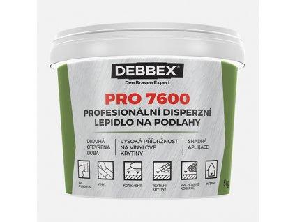 Den Braven - Profesionální disperzní lepidlo na podlahy PRO 7600, kbelík 14 kg