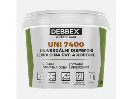 Den Braven - Univerzální disperzní lepidlo na PVC a koberce UNI 7400, kbelík 1 kg