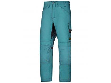 Kalhoty AllroundWork modré petrol Snickers Workwear