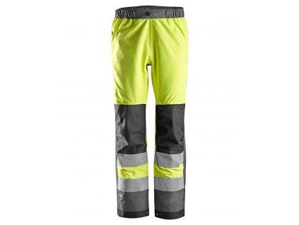Kalhoty AllroundWork reflexní nepromokavé tř. 2 žluté XS Snickers Workwear