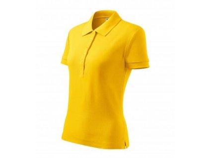 Cotton Heavy polokošile dámská žlutá