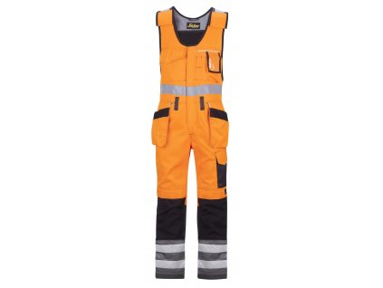 Kalhoty laclové řemeslnické s HP, vysoká viditelnost EN 471 tř.2 Snickers Workwear