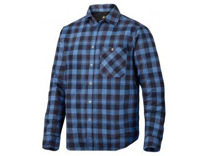 Košile zateplená RuffWork modrá vel. XXL Snickers Workwear