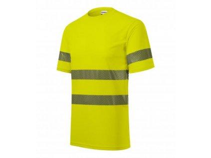 HV Dry tričko unisex fluorescenční žlutá