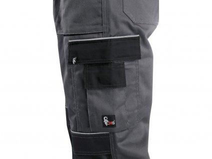 Kalhoty do pasu CXS ORION TEODOR, prodloužené, pánské, šedo-černé, vel. 48-50