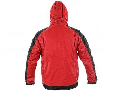 Bunda CXS IRVINE, zimní, pánská, červeno-černá