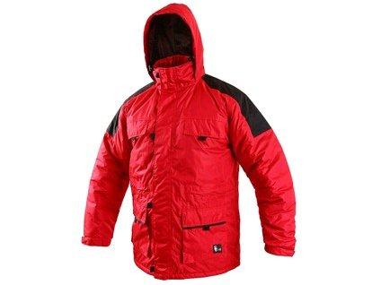 Pánská zimní bunda FREMONT, červeno-černá