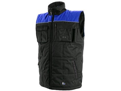 Pánská zimní vesta SEATTLE, černo-modrá