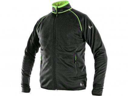 Mikina CXS TORONTO, pánská, černo-zelená