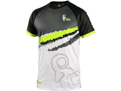 Tričko CXS SPORTY, krátký rukáv, šedo - zelená