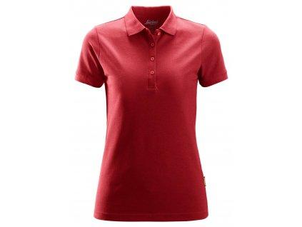 Polokošile dámská červená XS Snickers Workwear