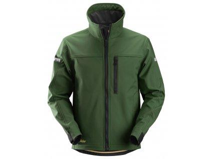 Bunda softshell AllroundWork pánská zelená XS Snickers Workwear