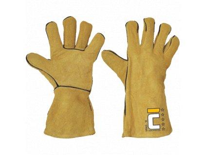 SPINUS KEVLAR rukavice celokožené