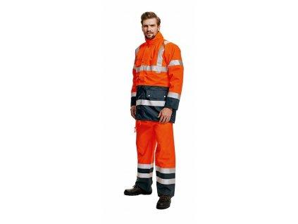 BIROAD výstražná bunda 3 v 1oranžová (Velikost/varianta 3XL)