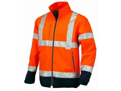 FLASH softschelová bunda oranžová s modrou (Velikost/varianta 3XL)