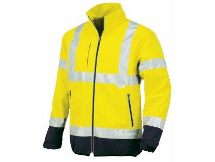 FLASH softschelová bunda žlutá s modrou (Velikost/varianta 3XL)